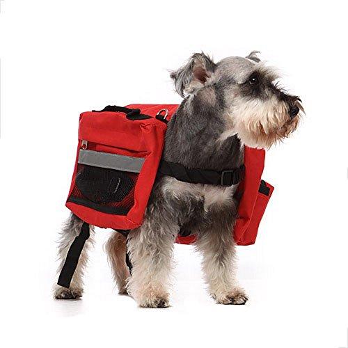 Pour Animal domestique Chien dehors Grande Sac à dos – Polyvalence Grand Chien avec un sac à dos -- Rouge 1