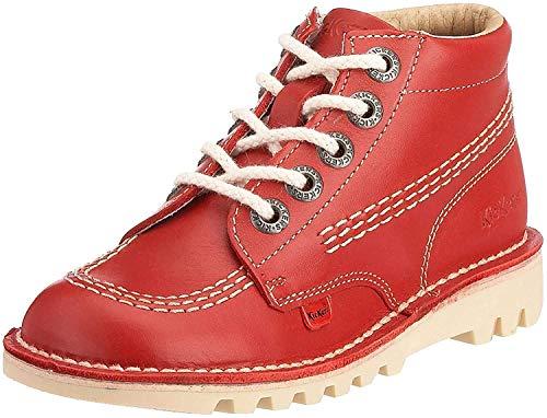 Kickers Kick Hi Core, Botas Niños Unisex, Rojo (Red/LT Cream), 30 EU