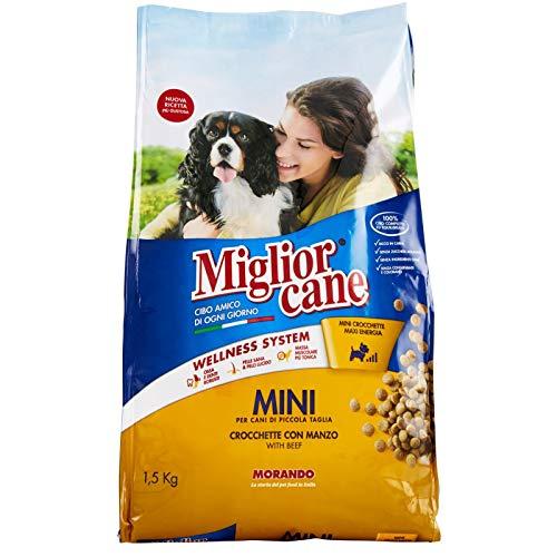 Morando CROCCHETTE per Cani MIGLIORCANE Manzo Mini CROCCANTINI 1,5 kg Adulti