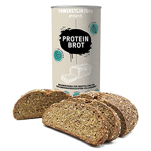 PROTEIN BROT | Vegan | Vollkorn Backmischung mit 40% Protein & 85% weniger Kohlenhydrate | Low carb | Erlesene Samen & Saaten statt Weißmehl | 16% Ballaststoffe | 750g 3 Brote | Deutsche Herstellung