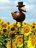 Pommerntraum ® | Vogelwippe | Windspiel | Metall Rostoptik *** Prof. Dr. Rabe **** tolle Gartendekoration