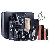 ZEUS Men's Ultimate Beard Care Kit - Complete Beard Care & Grooming Set to...