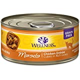 Wellness Complete Health Natural Grain Free Wet Canned Cat Food, Cubed Chicken Entree, 5.5-Ounce Can (Pack of 24)