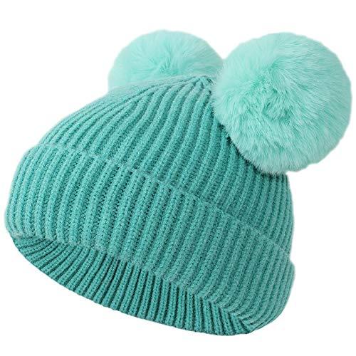Gorro de invierno para bebé, para bebés y niños pequeños, recién nacidos, con orejeras, lindo gorro de lana cálido para niños y niñas