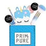 Prim and Pure Mineral Gift Set with Unicorn Mirror| Perfect for Play Dates & Birthday Parties | Kids Eyeshadow Makeup – Mineral Blush | Organic & Natural Makeup Kit for Kids| Made in USA (Blue)