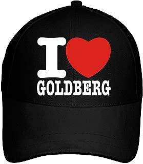 I Love Goldberg Bold Font Baseball Cap Black