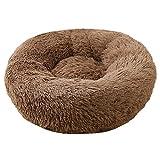 QXIAO Cuccia per Cani E Gatti Soffice Cuccia Extra Large Lavabile Rotonda Calmante in Pelliccia Ciambella Coccola Cuccia per Gatti E Cani di Taglia Media,A-110CM