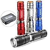 Pack of 4 Flashlights, BYB 180 Lumens Small Flashlight Super Bright Zoomable Mini