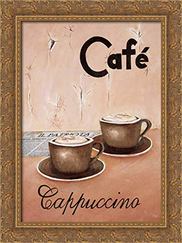 Hedy 18x24 Gold Ornate Framed Canvas Art Print Titled: Cappuccino Grande