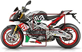 Aprilia Tuono V4 1100 Factory italienische Flagge Bauch und Seitenwand Grafik Satz ( flacher Farb )