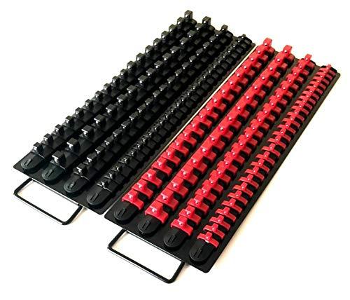 3-H Bandeja organizadora de llaves de vaso 3-H, 80 piezas, 1/4-