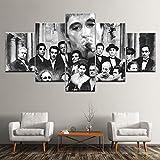 XLST Hohe Qualität Leinwanddruck 5 Panel Godfather Goodfellas Scarface Sopranos Modular Moderne Wohnkultur Wandkunst Poster,B,40X60X240X80X240X100X1