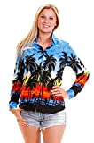 Funky Camisa Hawaiana, LS Beach, purple, 4XL