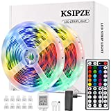 Ksipze Striscia Led 10M Rgb Led Colorati Luci Led Light Strip con 44 Tasti telecomando Luminosità...