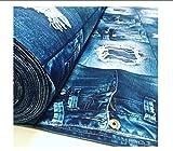 LushFabric Denim Jeans Effekt Stoff für Innendekoration,