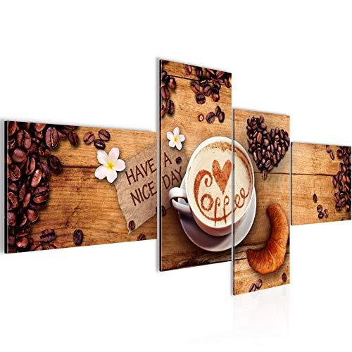 Runa Art Küche Kaffee Bild Modern - 100{26cbee0cae54615f17e20c539749ceabac42081eef43c5d12ad13fc1a722afa0} Made In Germany - Wandbilder Coffee Braun 4 Teilig 501242a