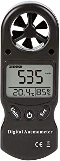 Digital Anemometer, 3 in 1 Handy Digital Anemometer LCD Wind Speed Temperature Humidity Meter with Hygrometer Thermometer ...