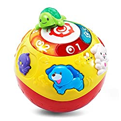 VTech Wiggle and Crawl Ball, electronic toys for kids, electronic gifts, toddler electronics, learning toys for toddlers, childrens electronic toys, musical toys, best electronics for kids, cool toys for kids, electronic educational toys, electronic games for kids, developmental toys, interactive toys, early learning toys, Tech Toys for kids