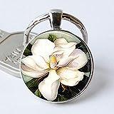 Zbzmm Schlüsselanhänger Southern Magnolia Schlüsselanhänger Magnolia Flower Jewelry Magnolia...