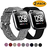 Best Fitbit Replacement Bands - Welltin 2 Pack Bands Compatible with Fitbit Versa/Fitbit Review