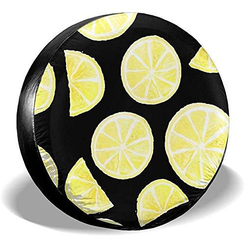 Bandencover fietstas tas, bandenafdekking cover, reserveafdekking, gele vrucht citroen gekopieerd de bandenafdekking, geschikt voor camper, vrachtwagen, voertuig, RV, SUV 14in(60-69cm) 887