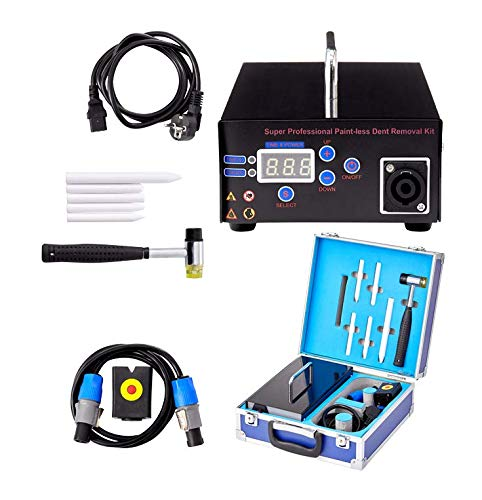 topei 1000W 110V Professional Paintless Dent Removal Kit Tool Electromagnetic Induction Heater Hot Box Flameless Heating for AUTO Door Car Body Iron Steel Soft Dent Repair Hail Dent Remover