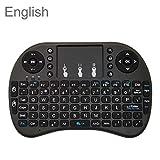 Sprachunterstützung: Englisch I8 Air Mouse drahtlose Tastatur mit Berührungsfläche for Android TV Box & Smart TV oder PC Tablet & Xbox360 & PS3 & HTPC/IPTV, Wireless Keyboard LiMinHua