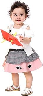 Toddler Girl's Summer Off Shoulder Star Sequins Design Dress Fashion Party Dress S-XL