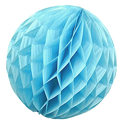 Simplydeko Honeycomb Ball Lantern for Party or Wedding–Hand Made Paper Ball, Paper, Light Blue, 10 cm