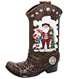Greluna Christmas Boot Shaped Snow Globe Lantern with Music, USB Plug or Battery Operated Water Lantern for Christmas Decoration