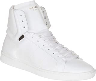 Saint Laurent Women's White Leather High Top Sneakers Shoes