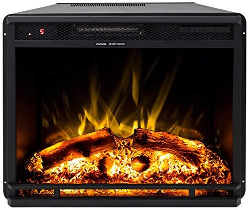 Noble Flame Oxford 750 – Cheminée électrique encastrée – Technologie LED moderne avec fonction chauffage – Ambiance de feu véritable – Espace de feu 67,1 cm