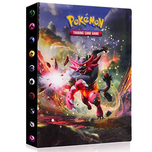 Funmo Classeur pour Cartes Pokemon, Pokémon Carte Album, Pokemon Cartes à Collectionner Album, Livre Protection pour Pokémon Commerce Cartes GX EX boîte, Capacité de 30 Pages Capacité de 240 Cartes