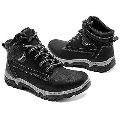 Adokoo Women's Hiking Boots Backpacking Trekking Boots Waterproof Lightweight Ankle Booties(Black,US10)