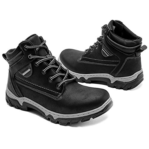 Adokoo Women's Hiking Boots Waterproof Backpacking Boots Ankle Booties(Black,US9)