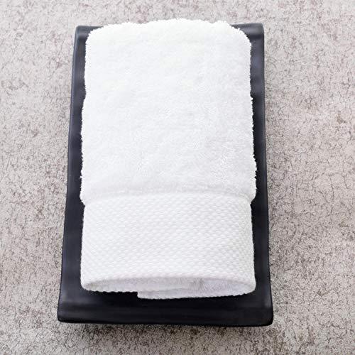 XINDUO Toallas Juego de toallitas Premium,Toalla Absorbente Suave de algodón 2pcs-White_34 * 74,Toallas Muy absorbentes y Suaves