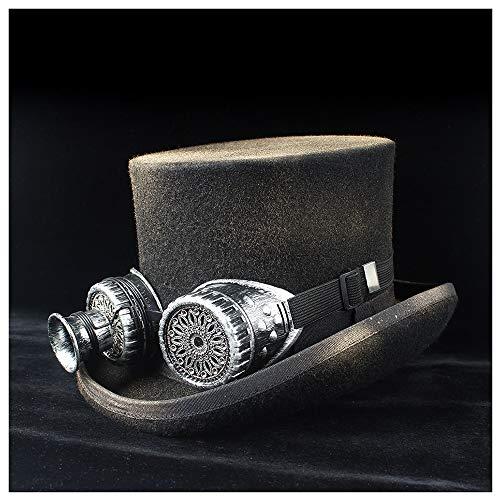 u&h 2020 wollen hoed topper Top Hatt met transmissievleugels, rockhoed, retrokleur, Aerosol Steam Punk muts, goede keuze