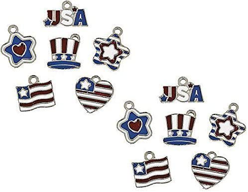 Patriotic Flag Enamel All items in the store Charms Al sold out. Set 12 Uncle S Heart Star Qty USA