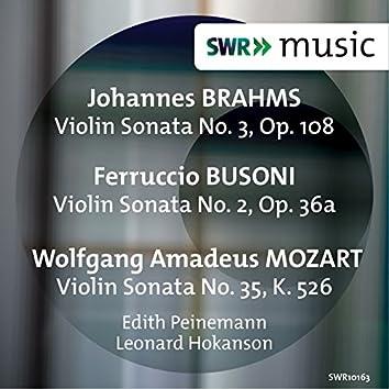 Brahms, Busoni & Mozart: Violin Sonatas