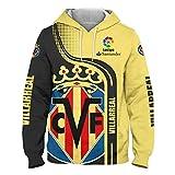 Hombres Hoodies por Villarreal 3D Impresión Sudadera con Capucha Suéteres/Zip Chaqueta Unisexo Sweatshirts Jersey Suelto / amarillo1 / L