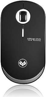 Wireless Mouse,Attoe 2.4GHz Ergonomic Ergonomic Portable Gaming Mouse Silent 800/1200/1600 DPI Optic Mouse,Convenient for PC Laptop Notebook Windows (Black)