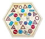 Hess-Spielzeug-Juego de Mesa de Madera con Signos de tráfico 14953