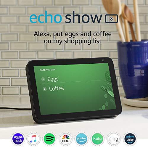 "Echo Show 8 - HD 8"" smart display with Alexa - Charcoal"