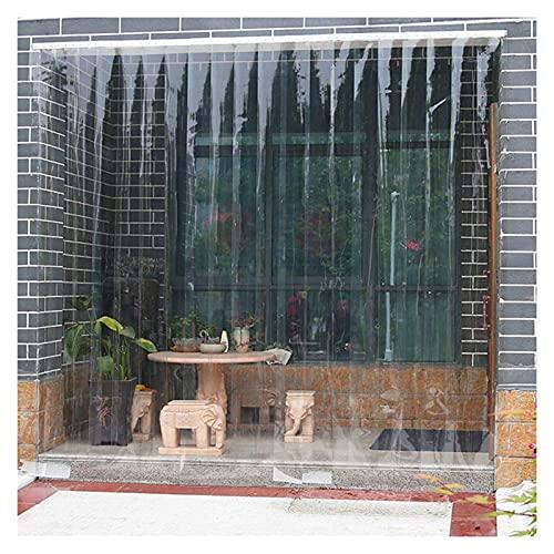 AMSXNOO Cortina Puerta PVC, Vertical Fácil De Colocar Cortina de Puerta 7 Tiras 1,5 mm, Cortina PVC Transparente para Cámara Frigorífica Habitación Supermarkt (Size : 1.05X2M)
