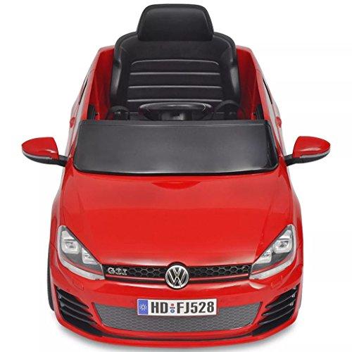 RC Auto kaufen Kinderauto Bild 2: SENLUOWX Kinderauto Elektroauto VW Golf GTI 7 rot 12 V Kinderfahrzeug Kinderauto mit Fernbedienung*