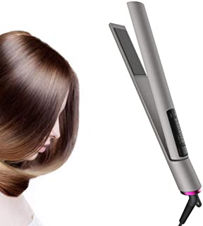 Hair Straightener, Hair Straightener and Curler 2 in 1 Tourmaline Ceramic Flat Iron with Dual Voltage,30s Fast Heat-Up,Adjustable Temperature(165℃-230℃), Travel Size For All Hair Types