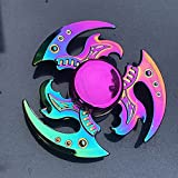 CCAY ADHD EDC Anti Anxiety Gift R188 Metal Bearing Rainbow Hand Spinner Colorful Zinc Alloy Fidget Spinner Focus Toys Decompression Small Toy for Adult Kids
