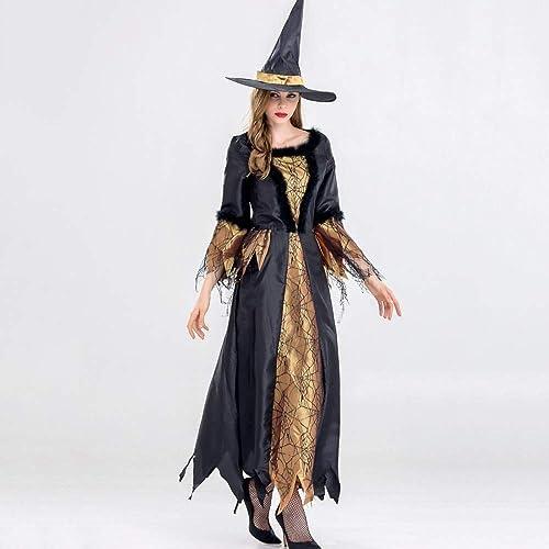 Olydmsky DeguiseHommest HalFaibleeen Tenue de scène pour Le Parti thème fête HalFaibleeen Witch Costume Femme Maquillage