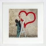 28 x 28 cm Cadre Photo Carré avec Passe-Partout 20 x 20 cm, Blanc