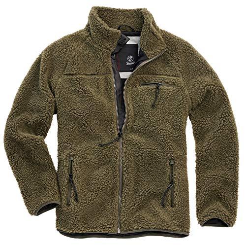 Brandit Teddyfleece Jacket, Oliv, Größe 4XL